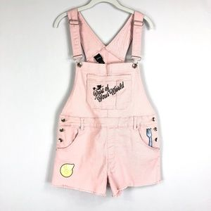 Disney Little Mermaid Overall Shorts Shortalls